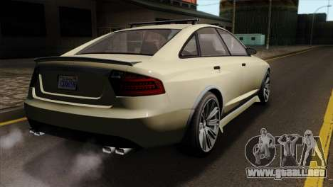 GTA 5 Obey Tailgater SA Mobile para GTA San Andreas left