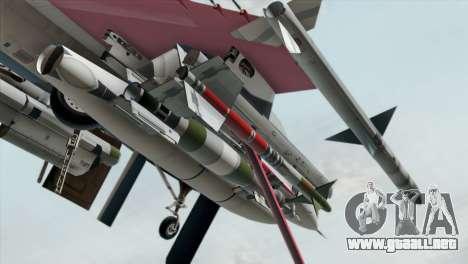 YF-16 Fighting Falcon para la visión correcta GTA San Andreas