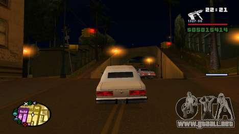 Para aumentar o disminuir el radar en GTA V para GTA San Andreas sexta pantalla