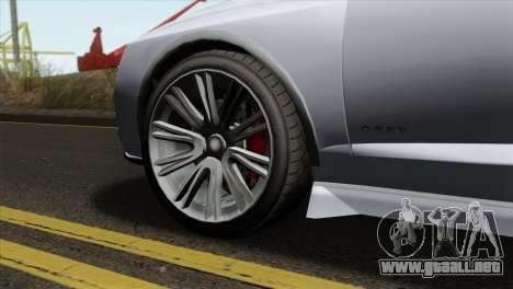 GTA 5 Obey Tailgater IVF para GTA San Andreas vista posterior izquierda