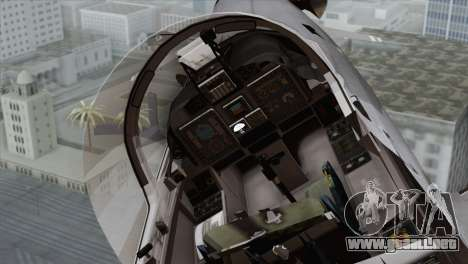 Embraer A-29B Super Tucano Marines para GTA San Andreas vista hacia atrás