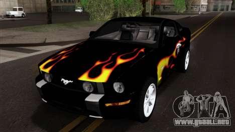 Ford Mustang GT Wheels 2 para vista lateral GTA San Andreas