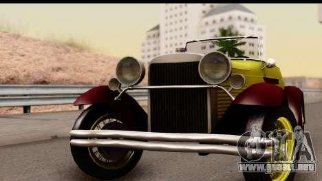 Ford A 1928 para GTA San Andreas vista posterior izquierda