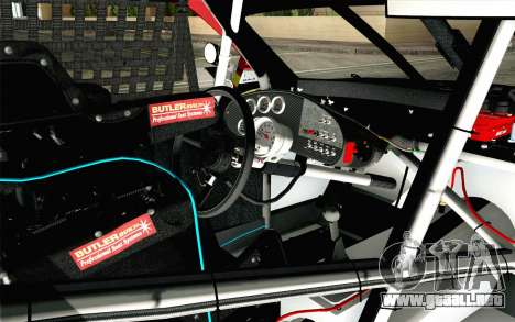 NASCAR Toyota Camry 2012 Short Track para la visión correcta GTA San Andreas