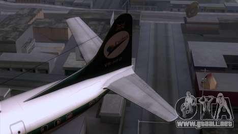 L-188 Electra Cathay P para GTA San Andreas vista posterior izquierda