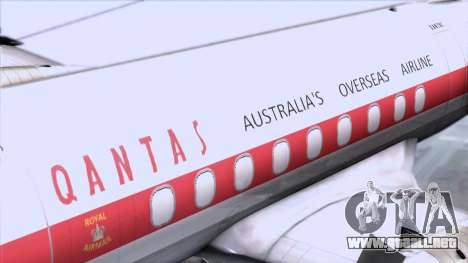 L-188 Electra Qantas para GTA San Andreas vista hacia atrás