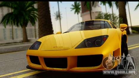 Noble M600 2010 HQLM para GTA San Andreas vista posterior izquierda