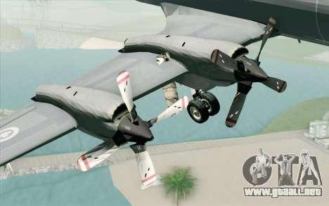 Lockheed P-3 Orion RCAF para la visión correcta GTA San Andreas