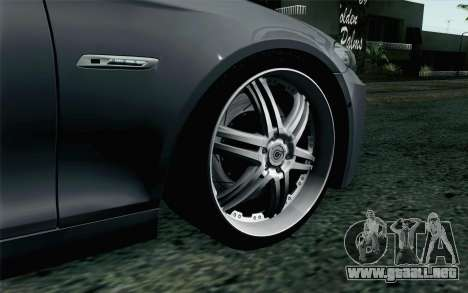 BMW 535i 2011 para GTA San Andreas vista posterior izquierda