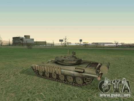 Tanque T-72B para GTA San Andreas vista hacia atrás