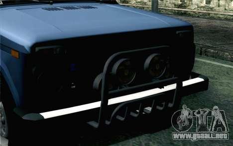 VAZ 2131 Niva 5D para GTA San Andreas vista hacia atrás