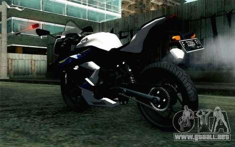Kawasaki Ninja 250RR Mono White para GTA San Andreas left