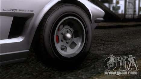 GTA 5 Invetero Coquette Classic TL SA Mobile para GTA San Andreas vista posterior izquierda