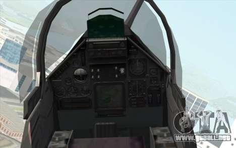 Dassault Mirage 2000 ISAF para la visión correcta GTA San Andreas