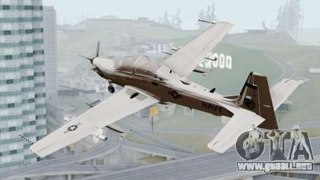 Embraer A-29B Super Tucano Navy White para GTA San Andreas