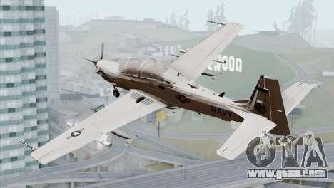 Embraer A-29B Super Tucano Navy White para GTA San Andreas left