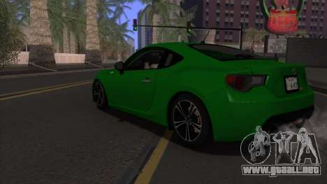 Scion FR-S 2013 Stock v2.0 para vista inferior GTA San Andreas