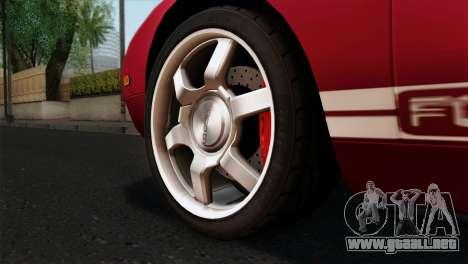 Ford GT FM3 Rims para GTA San Andreas vista posterior izquierda