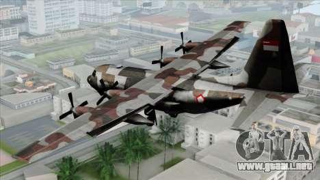 C-130B Indonesian Air Force (TNI AU) para GTA San Andreas left