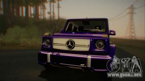 Mercedes-Benz G65 2013 Stock body para GTA San Andreas left