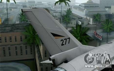 F-16 Fighting Falcon RNoAF para GTA San Andreas vista posterior izquierda