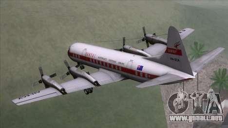 L-188 Electra Qantas para GTA San Andreas left