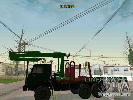 KamAZ 44108 Madera para GTA San Andreas vista hacia atrás