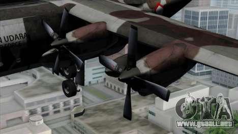 C-130B Indonesian Air Force (TNI AU) para la visión correcta GTA San Andreas