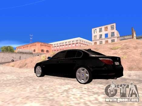 BMW 525i (e60) para GTA San Andreas left