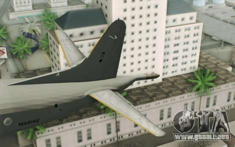 Lockheed P-3 Orion German Navy para GTA San Andreas vista posterior izquierda