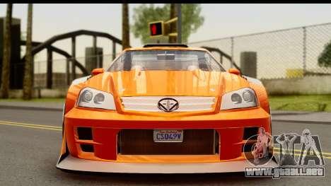 GTA 5 Benefactor Feltzer para GTA San Andreas vista posterior izquierda