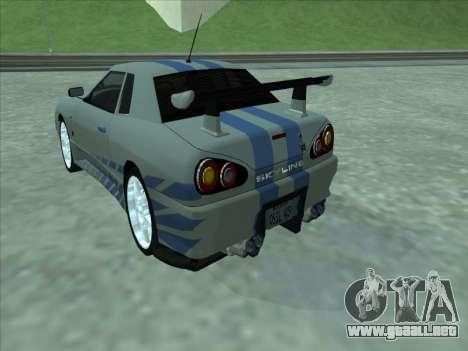 Elegy Skyline para visión interna GTA San Andreas
