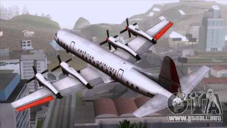 L-188 Electra American Als para GTA San Andreas left
