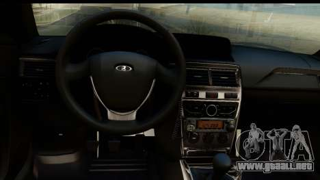 VAZ 2170 PAPS para GTA San Andreas vista hacia atrás