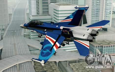 F-18D RAAF 20th Anniversary para GTA San Andreas left