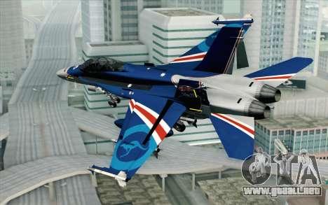 F-18D RAAF 20th Anniversary para GTA San Andreas left