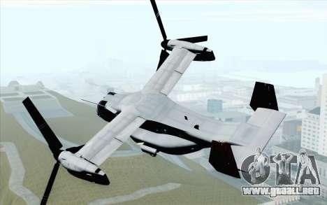 MV-22 Osprey VMM-265 Dragons para GTA San Andreas left