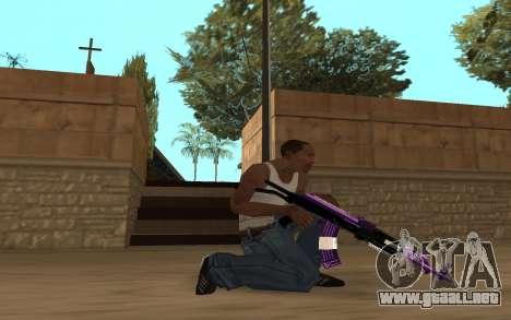 Purple Weapon Pack by Cr1meful para GTA San Andreas sexta pantalla