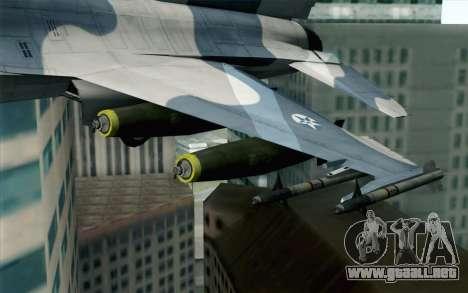 F-16 Osean Air Defense Force para la visión correcta GTA San Andreas