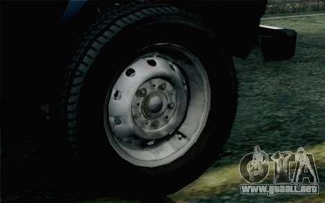 VAZ 2131 Niva 5D para GTA San Andreas vista posterior izquierda