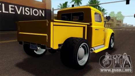 GTA 5 Bravado Rat-Truck para GTA San Andreas left