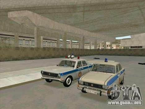 Moskvich 2140 Policía para GTA San Andreas vista posterior izquierda