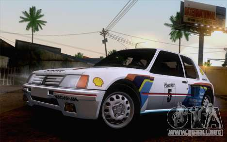 Peugeot 205 Turbo 16 1984 [HQLM] para GTA San Andreas left