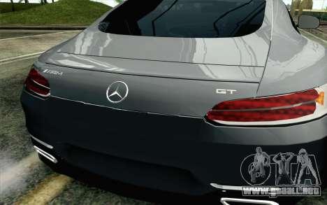 Mercedes-Benz AMG GT 2015 para GTA San Andreas vista hacia atrás