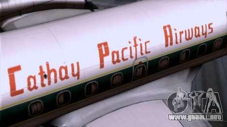 L-188 Electra Cathay P para la visión correcta GTA San Andreas