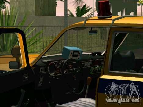 Volga 24-10 GAI para GTA San Andreas vista hacia atrás