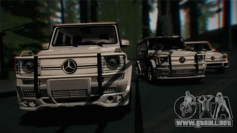 Mercedes-Benz G65 2013 Stock body para la vista superior GTA San Andreas
