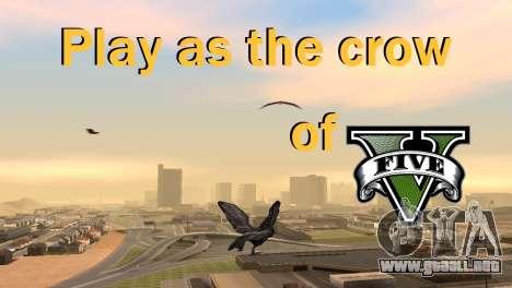 La posibilidad de GTA V para jugar a los pájaros para GTA San Andreas