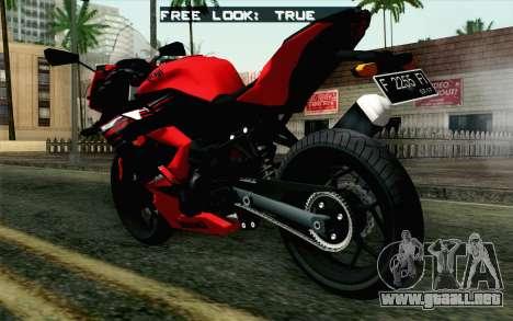 Kawasaki Ninja 250RR Mono Red para GTA San Andreas left