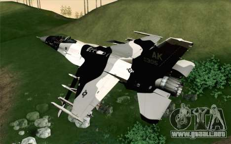 F-16C Fighting Falcon Aggressor Alaska BlackGrey para GTA San Andreas left